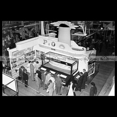 #php.01710 Photo Ss Canberra P&o Exhibition Stand 1959 Paquebot Ocean Liner Elegant En Sierlijk
