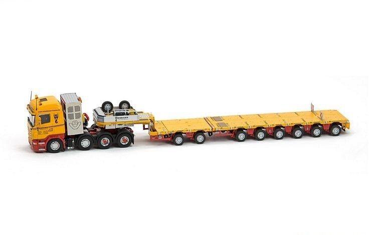 IMC32-0012 - Camion MERCEDES Actros2 6x2 avec remorque 8 essieux GOLDHOFER surba