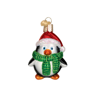 Old-World-Christmas-PLAYFUL-PENGUIN-16083-N-Glass-Ornament-w-OWC-Box
