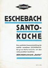 Eschebach Radeberg Prospekt Santo Küche mit AEG Kühlschrank 1938