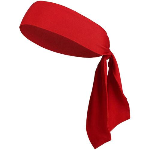 Unisex Head Tie Tennis Basketball Headband Sports Sweat Band Hair Sweatband