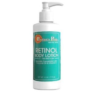 Body lotion retinol
