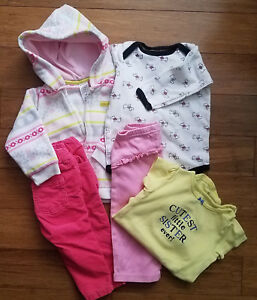 Lot Of 5 Pc Carter S Baby Girl Clothes Size 12 Months Ebay
