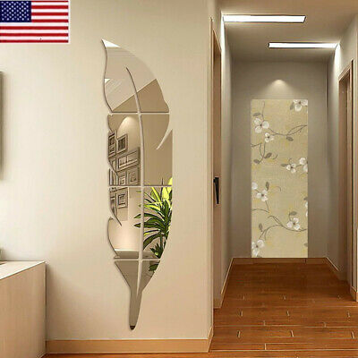 Mirror Wall Stickers 3D DIY Art Decal Bathroom Bar Home Room Decor Removable
