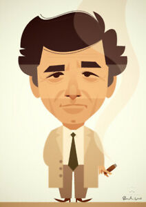 Columbo by Stanley Chow - Signed and stamped archival Giclee print