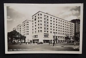 RPPC-1948-Hotel-Statler-Old-Cars-Taxis-Real-Photo-Washington-DC