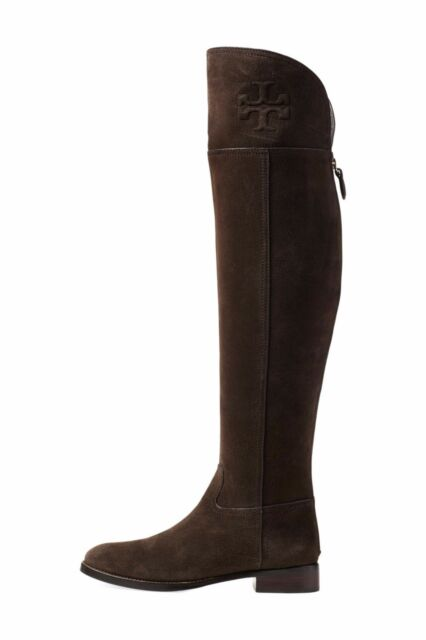 0d570fed8 New Tory Burch Simone Cafe Brown Suede Over the Knee Boot Women 5.5  575