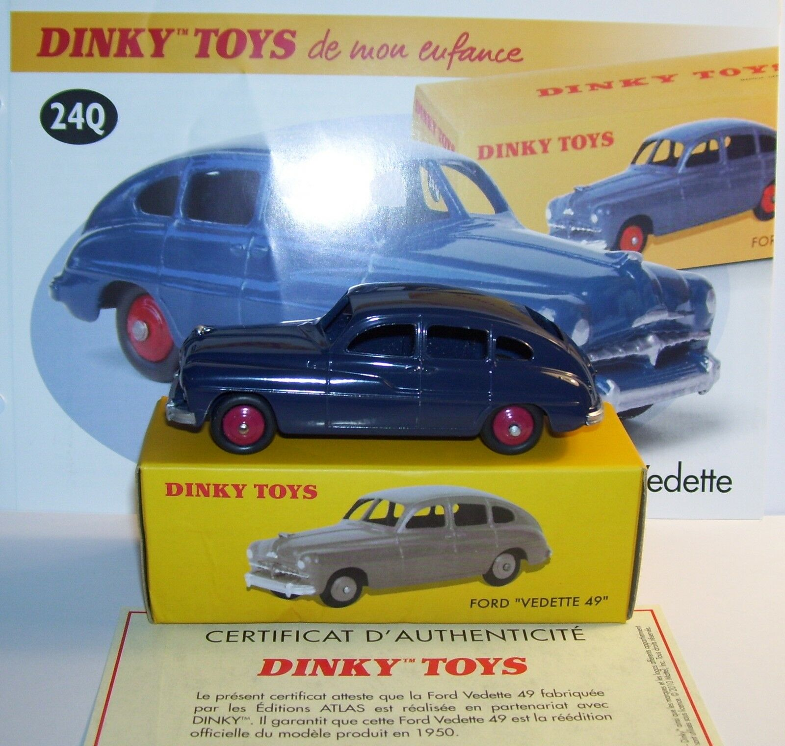 DINKY TOYS ATLAS FORD STAR 49 NAVY blueE REF 24Q 1 43 IN BOX