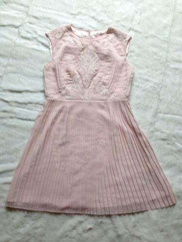 10 gonna Blush 2 pieghe Baker da a Pink sposa Pink Gonna damigella d'onore Ted abito 06axSq