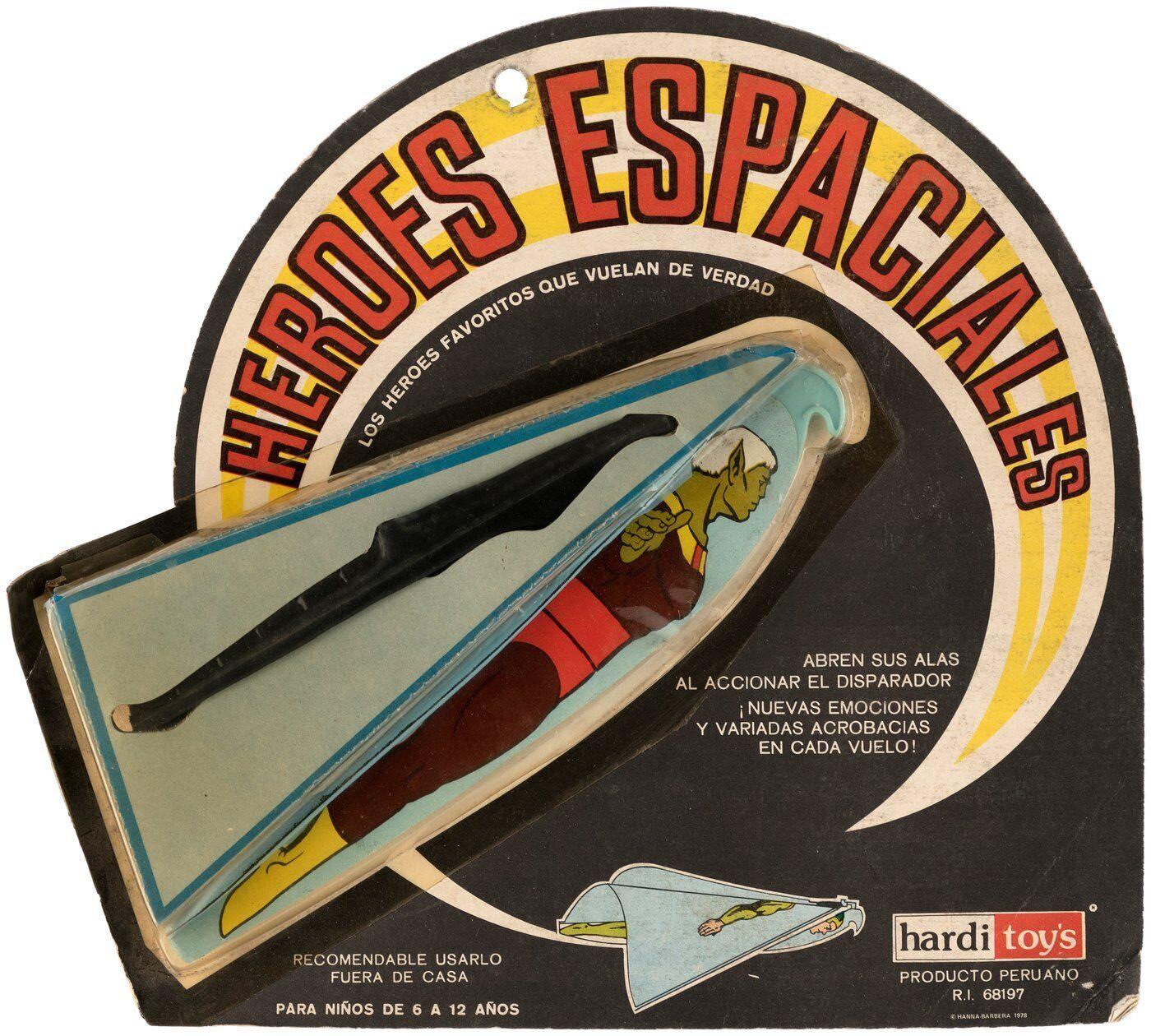 METEOR MAN SPACE HEROES Hang Glider Hanna Barbera Peru 1967 RARE Galaxy Trio