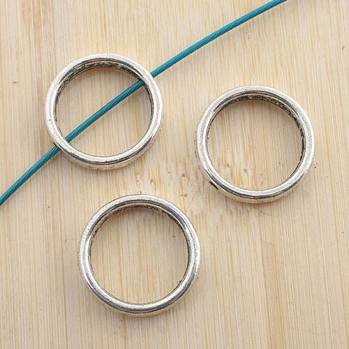 20pcs antiqued silver round spacer beads G1209