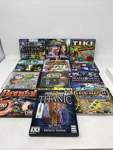 Lot of 12 PC Puzzle Games QBert Jewel Mahjongg Lost Treasure