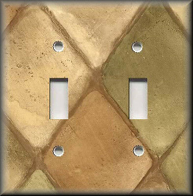 Light Switch Plate Cover - Tuscan Home Decor Tuscan Tones Block Warm Colors