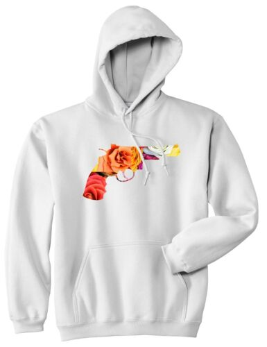 Print Hoody Hooded Sweatshirt Floral Of Revolver Gun Ny Pistol Pullover Kings qwSvY4A