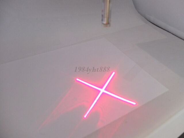 5pcs 650nm 5mW 5v Red Laser Cross  Module Glass Lens Focusable Industrial Class