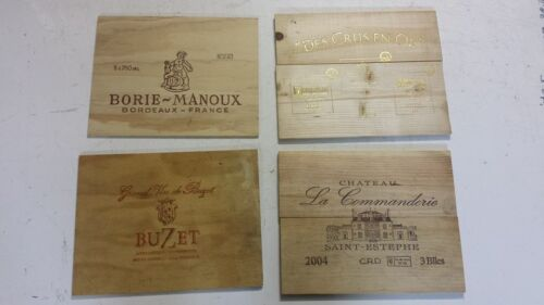 6 X TRADITIONAL WINE WOODEN BOX END PANELS WALL PLAQUE HOME BAR PUB DECORATION