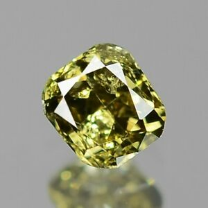 0-11-Carat-NATURAL-Sparkly-Greenish-YELLOW-DIAMOND-LOOSE-for-Setting-Cushion-Cut