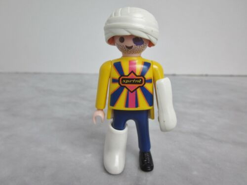 PLAYMOBIL Figure W1 Accident Patient w// Arm Leg Casts and Head Bandage