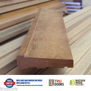 Image is loading Front-Door-Sill-Solid-Merbau-Timber-External-Entry- & Front Door Sill Solid Merbau Timber External Entry 1.8m 2.1m 2.4m up ...