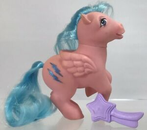 Vintage G1 My Little Pony Firefly Pegasus Shooting Star Brush Concave Feet 1983