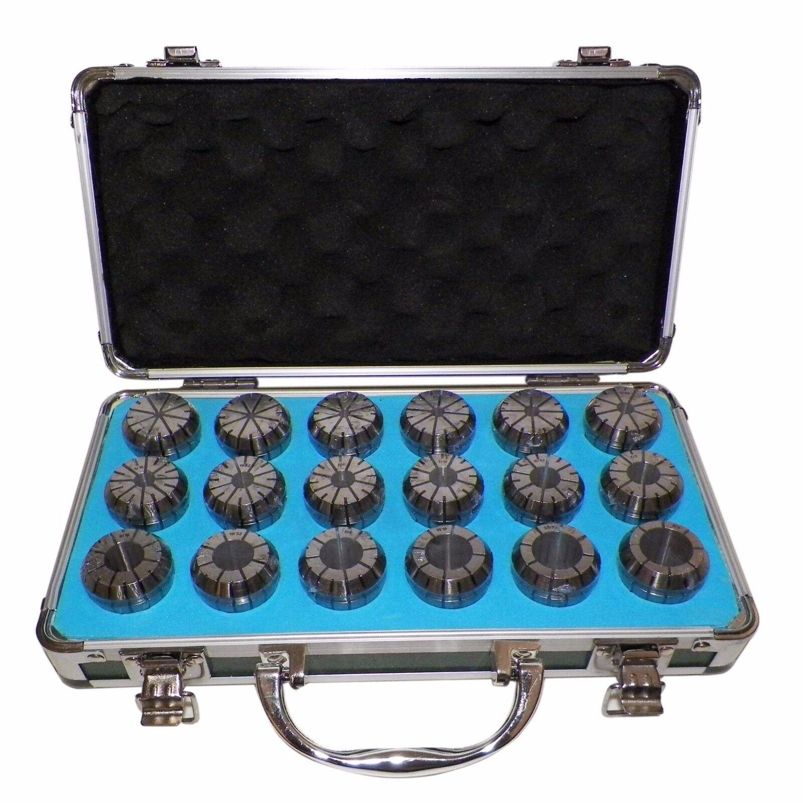 ER32 Spannzangen Set 0.3cm bis 1.9cm (18 Teile) Prime Qualität Geprüft Rennen