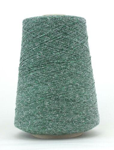 Grünes Lurex* Botella Cable Garn Konenwolle Baumwolle NM7,7 *18,50€//kg