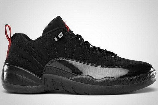 2011 Nike Air Jordan 12 XII Retro Low Black Varsity Red Size 13. 308317-001 bred