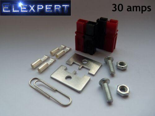 4 x ANDERSON POWERPOLE 30Amp panneau connecteur électrique kit de montage pour Kit car/_rc