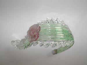 Ricambio lampadario vetro murano grande foglia stelo ricurvo