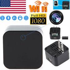 HD 1080P WIFI SPY Hidden Camera Wall Charger Adapter DVR Video Recorder Webcam