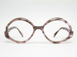 Glasses-Glasses-Frame-Ladies-70er-Hippie-Plastic-Designer-Vintage-Transparent