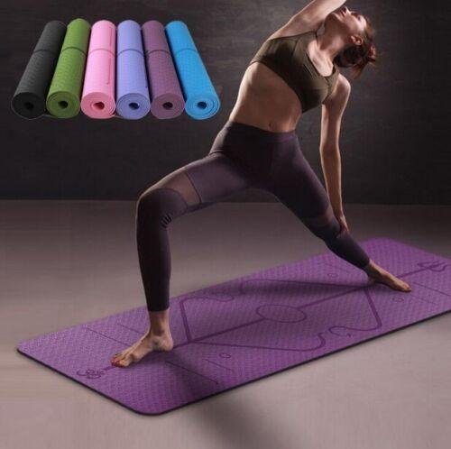 1830*610*6mm TPE Yoga Mat with Position Line Non Slip Carpet Environmental Pad