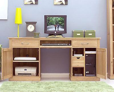 twin pedestal computer desk cor06d mobel desk large hideaway hidden home computer solid oak office furniture