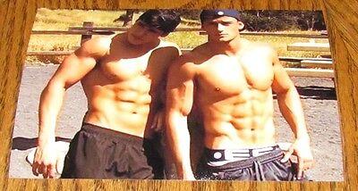 Shirtless Sports Jocks Duo Ripped 6 pack Abs Frat Boy Hunks Guys PHOTO 4X6 C23