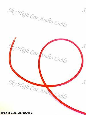 100 ft 12 Gauge AWG Primary / Remote Wire RED Sky High Car Audio Lead Ga Feet