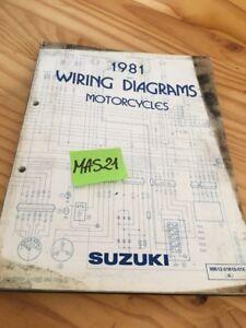 Suzuki-Reihe-1981-Schaltplan-Elektrisch-Wiking-Programm-Diagramm-81