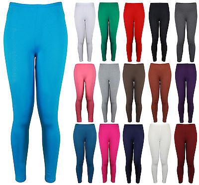 Gerade New Womens Ladies Plain Strechy Viscose Full Length Legging Plus Size 8 To 26 FöRderung Der Produktion Von KöRperflüSsigkeit Und Speichel
