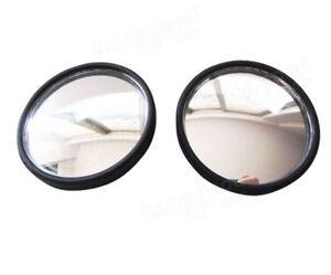 2x-Convex-BLIND-SPOT-MIRROR-Towing-Reversing-Driving-SELF-ADHESIVE-Car-Van-Bikes