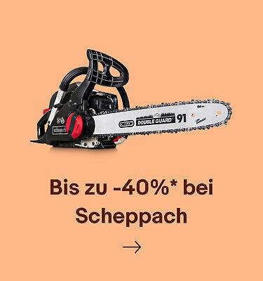 Bis zu -40% bei Scheppach