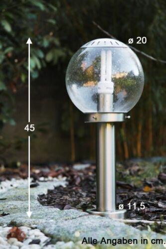 Lampione da giardino 45cm Lampioncino Acciaio Segnapasso da giardino NEW 49563