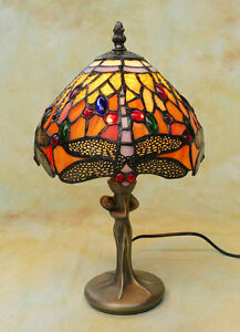 Tiffany-Tischlampe-Dragonfly-Libelle-Tiffanylampe-Lampe-TE17-a