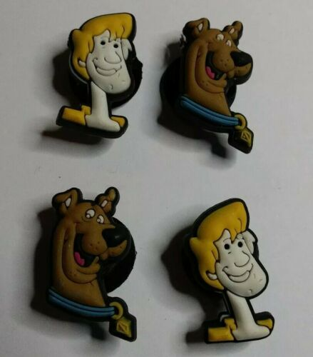 Scooby Doo /& Shaggy 4pc SHOE CHARMS LOT Fits CROC SHOES /& JIBBITZ BRACELETS