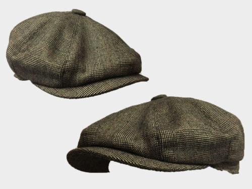 8 PANNELLO Pallido Blinder Marrone Motivo 8 PANNELLO Notizie Ragazzo Gatsby Baker Boy 1920 S