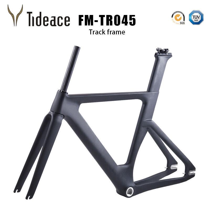 2018 Nuevo Modelo FM-TR045 Carbon Fibe FG Bicicleta de pista frameset BSA Mate OEM