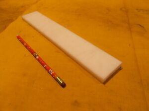 "QUADRANT NATURAL HDPE BAR machinable plastic flat sheet stock 1//2/"" x 2/"" x 12/"""