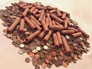 VINTAGE-WHEAT-PENNY-ROLL-LINCOLN-PENNY-OLD-US-COINS-INDIAN-HEAD-CENT-COLLECTIONS