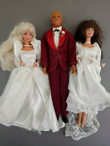 1968 Ken Doll And Two 1966 Bride Barbies Ebay