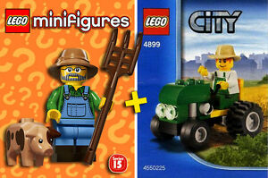 LEGO-Minifigures-71011-City-4899-Farmers-Tractor-NEW-NEUF-Sealed
