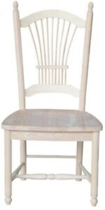 Dining Chair Lattice Back Solid Wood Frame Unfinished with ...