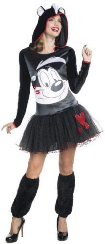 Details about  /RUBIES Ladies Costume Fancy Licensed Looney Tunes Pepe Le Pew Hooded Tutu 810429